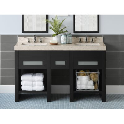 "Ronbow Kendra 58"" Wood Double Vanity Set"