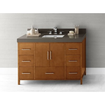 "Ronbow Contempo Juno 50.35"" W Cinnamon Vanity Base w/ Three Hole Faucet Drillings"