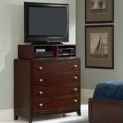 Wynwood Furniture Bellaire 4 Drawer Media Deck