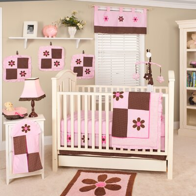 Pam Grace Creations Pam's Petals 10 Piece Crib Bedding Set