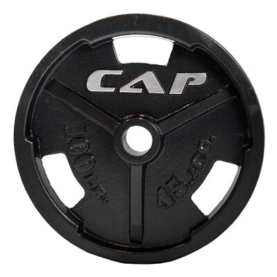 "Cap Barbell 2"" Black Commercial Grip Plate"
