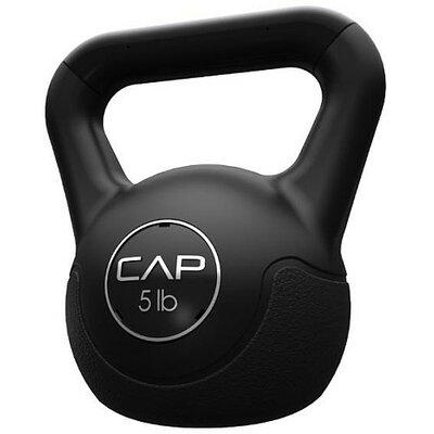 Cap Barbell Vinyl Kettlebell in Black