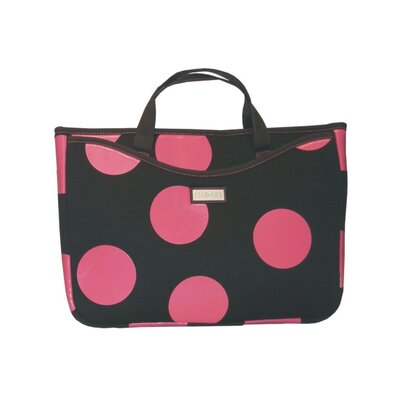 "Hadaki Large 15.4"" Neoprene Laptop Sleeve in Bubbles Pink"
