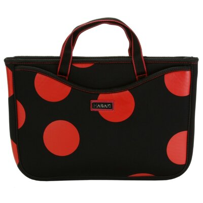 Large Neoprene Laptop Sleeve in Bubbles Tomato