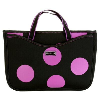Large Neoprene Laptop Sleeve in Bubbles Orchid
