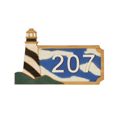 Mario Industries Lighthouse Wall Address Plaque