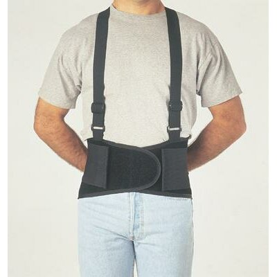 "Allegro Extra Large Black Economy Belt 8"" Back Support W/Suspenders 47"" To 56"""