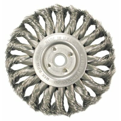Anderson Brush Medium Face Standard Twist Knot Wire Wheels-TS & TSX Series - ts12s .0118/ss knot wheel brush 1-1/4 arbor