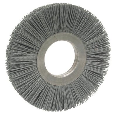 "Anderson Brush Anderlon™ AM-A Silicon-Carbide Metal-Center Non-Metallic Brushes - am6a 6"" non-metallic wheel brush 2"" arbor d0"