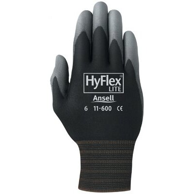 Ansell Ansell - Hyflex Lite Gloves 205652 8 Hyflex Ultra Lightweight Assembly Glove: 012-11-600-8-Bk - 205652 8 hyflex ultra lightweight assembly glove