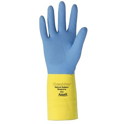Ansell Chemi-Pro® Unsupported Neoprene Gloves - 192245 9 chemi-pro hvy dty neoprene/nat latex