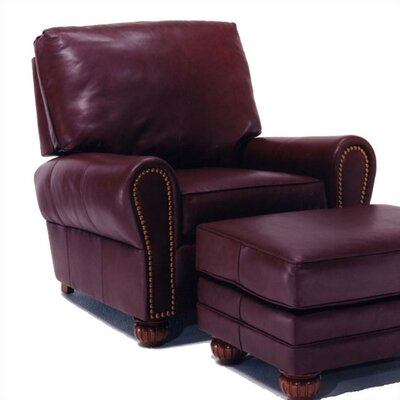 Distinction Leather Lenox Leather Chair and Ottoman