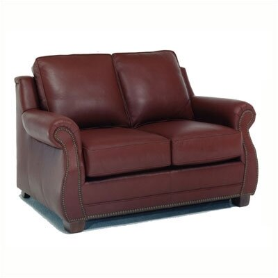 Amber Leather Loveseat