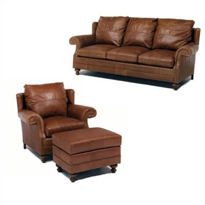 Cartwright Leather Sleeper Sofa and Chair Set