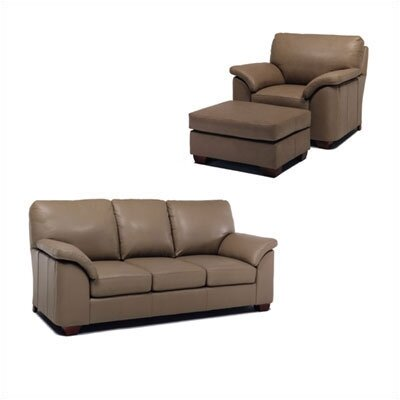 Regis Leather Sleeper Sofa and Chair Set