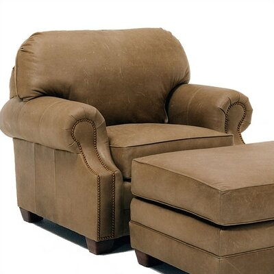 Sumner Leather Chair and Ottoman