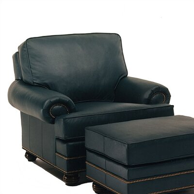 Vermont Leather Chair and Ottoman