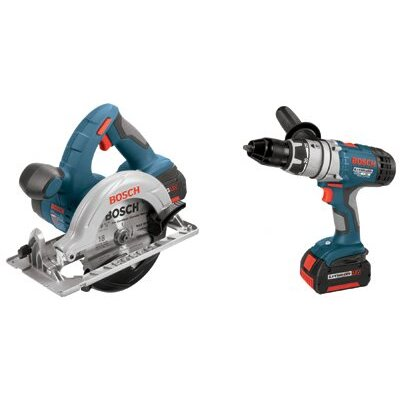 "Bosch Power Tools Bosch Power Tools - Litheon Cordless Combo Kits Combo Kit W/1/2 In Brutetough Hmr Drl 6.5"" Saw: 114-Clpk21-180 - combo kit w/1/2 in brutetough hmr drl 6.5"" saw"