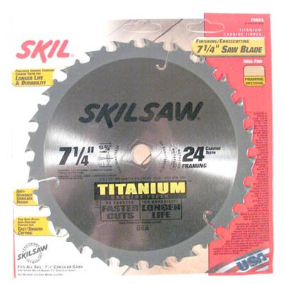 "Bosch Power Tools SkilSaw® Titanium 7-1/4"" Saw Blade Finishing/Crosscutting 759"