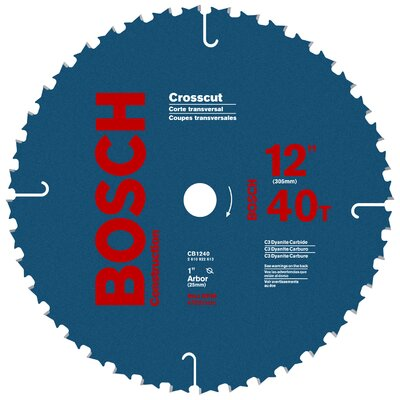 "Bosch Power Tools 12"" 40T Crosscut Circular Saw Blade  CB1240"
