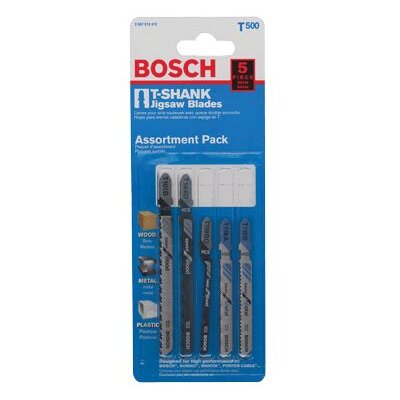 Bosch Power Tools 5 Piece Carbon Steel Jig Saw Blade Sets - 5pc. jig saw bladesw/bosch sha
