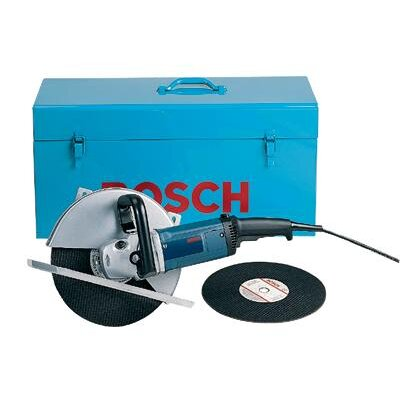 "Bosch Power Tools 14"" Portable Cut-Off Machine Saw with Two-Position Wraparound Side Handle Large footplate Help Improve Stability"
