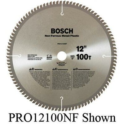 "Bosch Power Tools Professional Series Circular Saw Blade For Non-Ferrous Metal/Plastic Cutting With 40 TPI, Dx5/8"" Arbor, 5° Hook Angle"