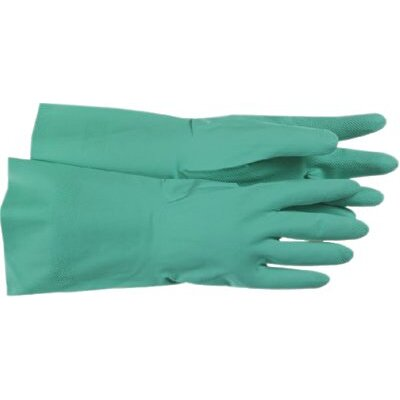 Boss Manufacturing Company Fully Coated Green Nitrile Gloves - flocked lined green nitrile 16 gage glove