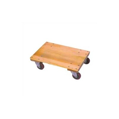 "Wesco Manufacturing Solid Platform Wood Dolly with 3"" Casters"