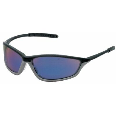 Crews Shock™ Protective Eyewear - shock onyx/graphite greyframe blue diamond lens