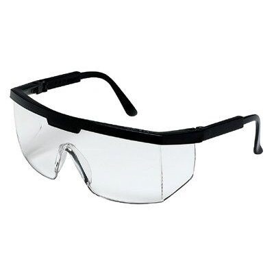 Crews Excalibur® Protective Eyewear - excalibur black frame clear lens safety glass