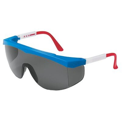 Crews Stratos® Spectacles - stratos red/wht/blue frame grey lens
