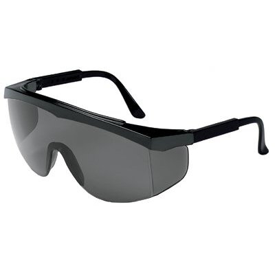 Crews Stratos® Spectacles - stratos black frame greylens safety glass