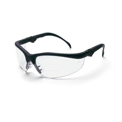 Crews Klondike Magnifier® Safety Glasses With Black Frame And Clear 2 Diopter Lens