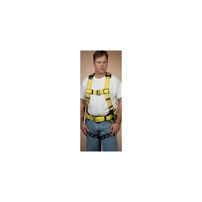 DBI/Sala Delta™ II Construction Vest Style Full Body Harness With Sewn-In Back & Shoulder Pads, Body Belt, Back And Side D-Rings