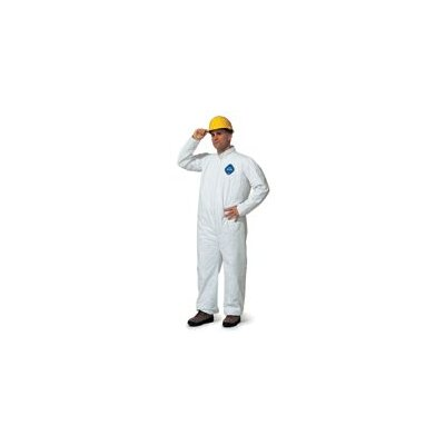 DuPont White Tyvek® Coverall With Zipper Front And Elastic Wrists And Ankles (25 Per Case)