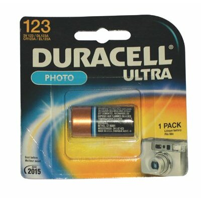 Duracell Duracell - Lithium Batteries 3.0 Volt Lithium Photo Battery (Dl123Abu): 243-Dl123Abpk - 3.0 volt lithium photo battery (dl123abu)