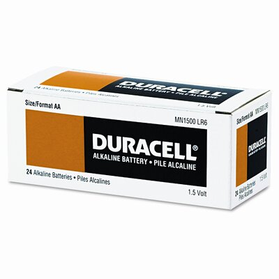 Duracell Coppertop Alkaline Batteries, AA, 24/box