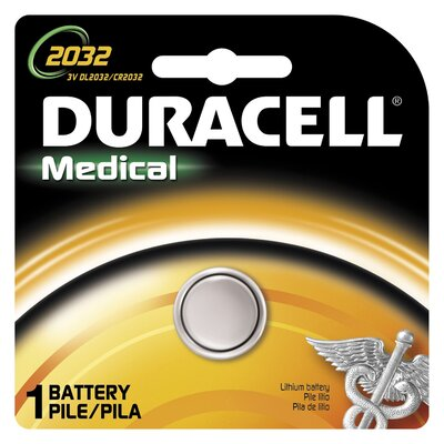 Duracell 3 Volt Lithium Medical 2032 Battery