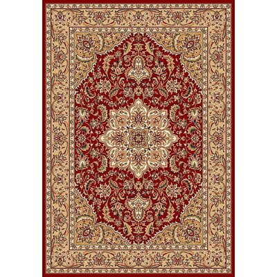 Kashan Cambridge Red/Beige Medallion Rug