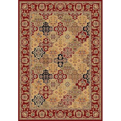 KAS Oriental Rugs Cambridge Red Kashan Panel Rug