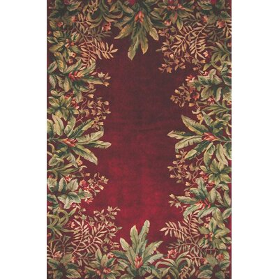 KAS Oriental Rugs Emerald Ruby Tropical Border Rug