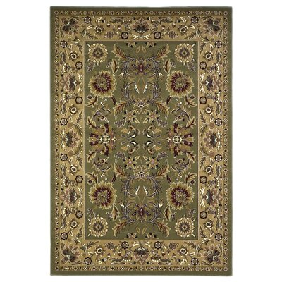 KAS Oriental Rugs Cambridge Green/Taupe Kashan Rug