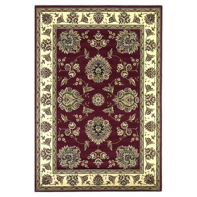 Cambridge Red/Ivory Floral Mahal Rug