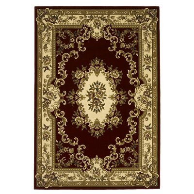 Corinthian Red/Ivory Aubusson Rug