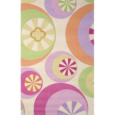 KAS Oriental Rugs Kidding Around Pastel Peppermints Kids Rug