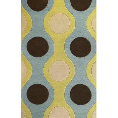 KAS Oriental Rugs Eternity Light Blue/Citron Plasma Rug