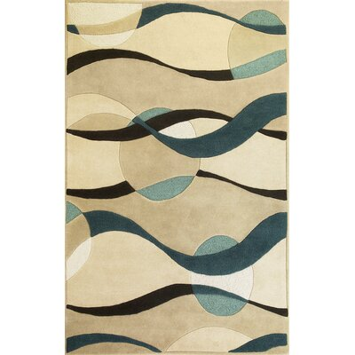 KAS Oriental Rugs Eternity Ivory/Blue Orbit Rug