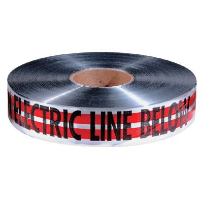 "Empire Level Detectable Warning Tapes - 2""x1000' red magnatec tape w/caution e"
