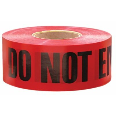 "Empire Level Safety Barricade Tapes - 3""x1000' barricade tapew/danger do not ente"